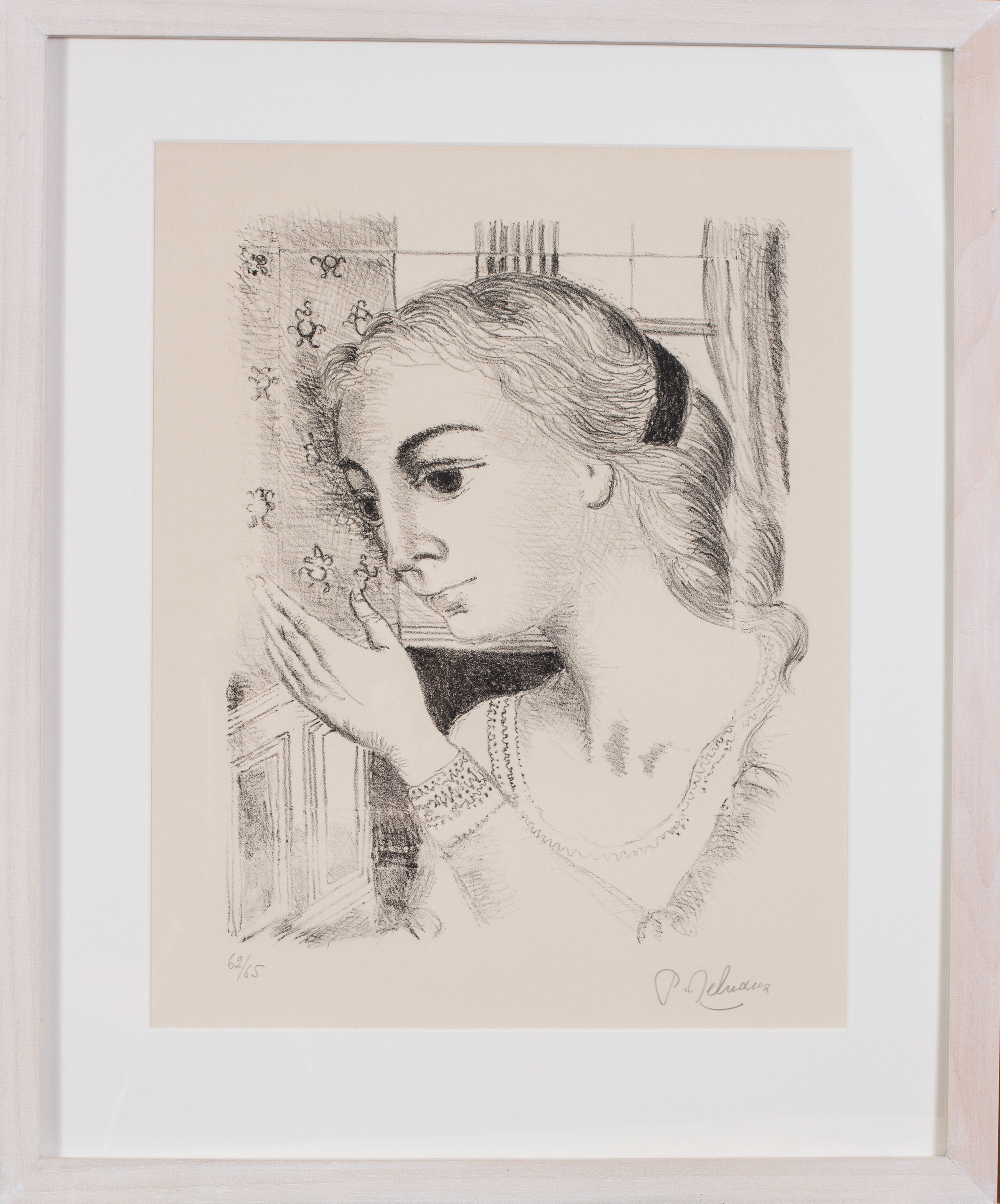 Paul Delvaux (Belgian, 1897 – 1994)    L'Imperatrice   Inscribed L'IMPERATRICE/7-74' (in the plate), signed and numbered in pencil 'XXXII/XXXV' (lower left), 'P. Delvaux' (lower right)  Lithograph 33.1/2 x 24.3/4in. (85 x 63cm.) (measured to slip edge)   Price: £1,900