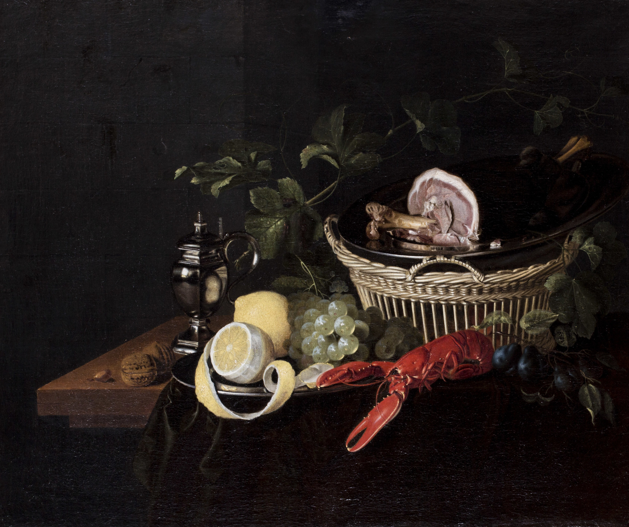 Attributed to Joris Van Son    Still life with lobster and lemon    Price: £31,000