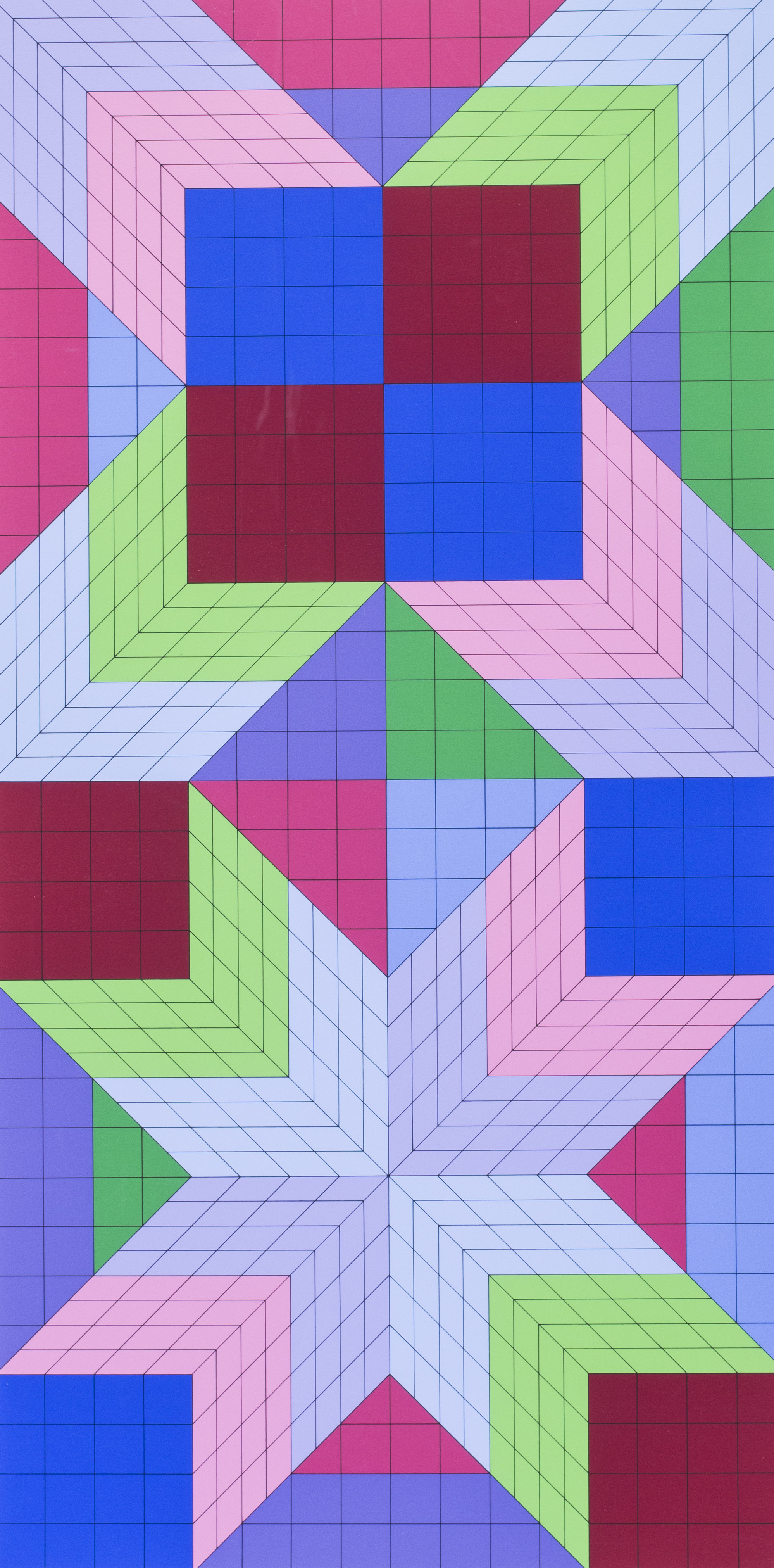Victor Vasarely   Door, 1982   Numbered 'E.A. 7/9' (lower left) and signed Vasarely (lower right)  Artist's proof Silkscreen print  43 x 23.1/2 in. (109.3 x 59.5 cm.) including margins   Price: £1,250