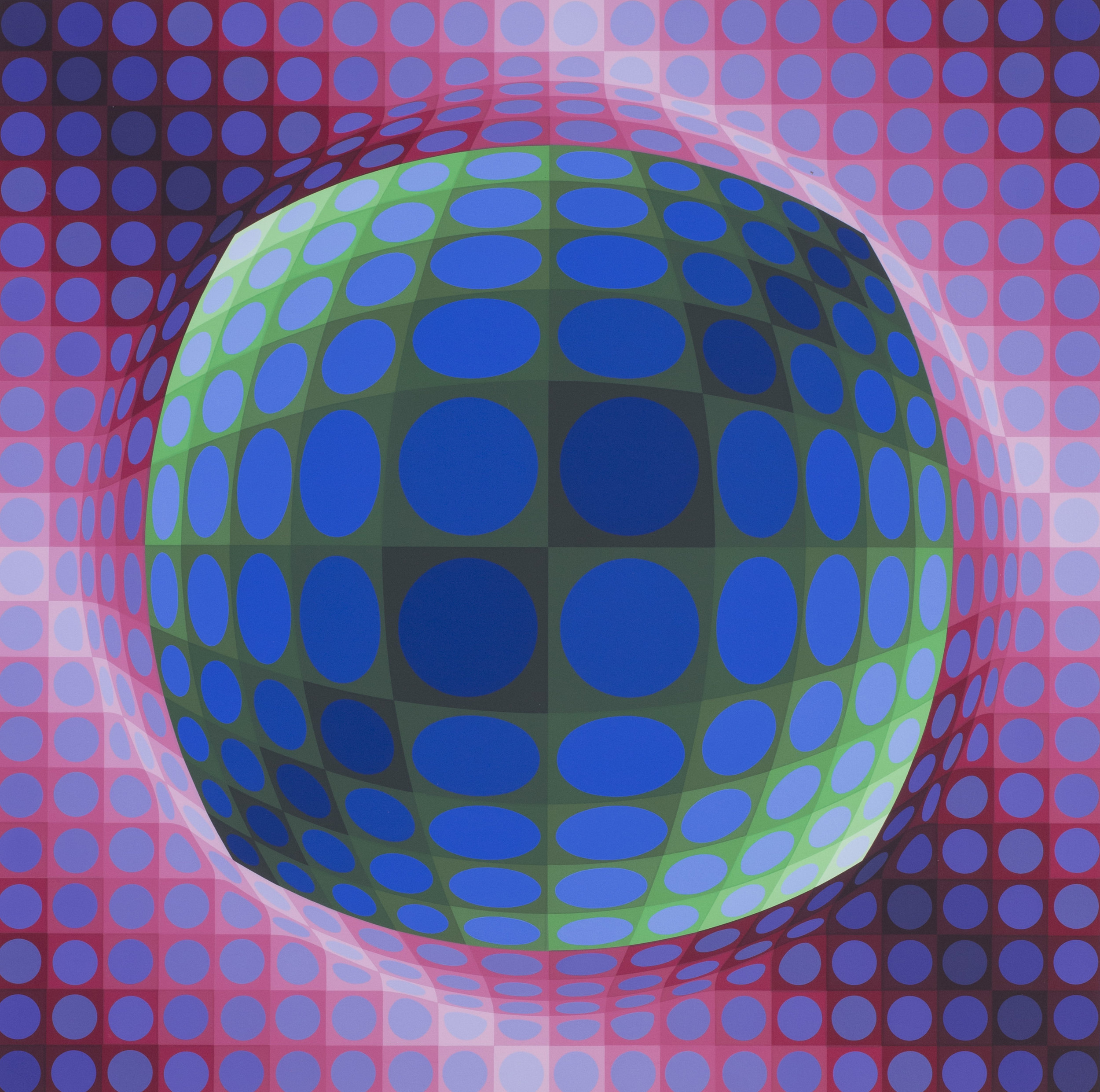 Victor Vasarely   Syry, 1978   Numbered '54/250' and signed 'Vasarely' (lower right)  Screen print  29.1/2 x 29.1/2 in. (75 x 75 cm.) Including margin   SOLD