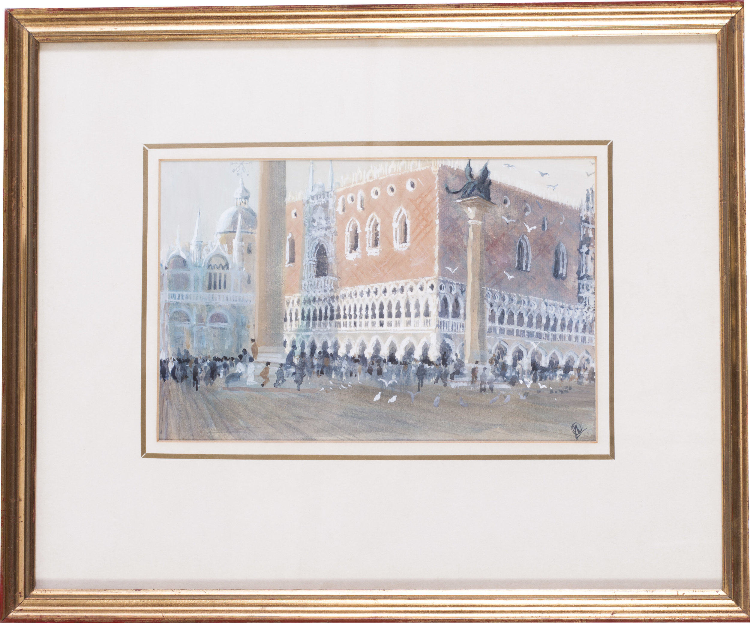San Marco, Venice , circa 1986   Acrylic and watercolour on paper   Monogrammed (lower right)   6.1/4 x 9.7/8 in. (15.8 x 25 cm.)   Provenance: The Catto Gallery, London   Price: £450