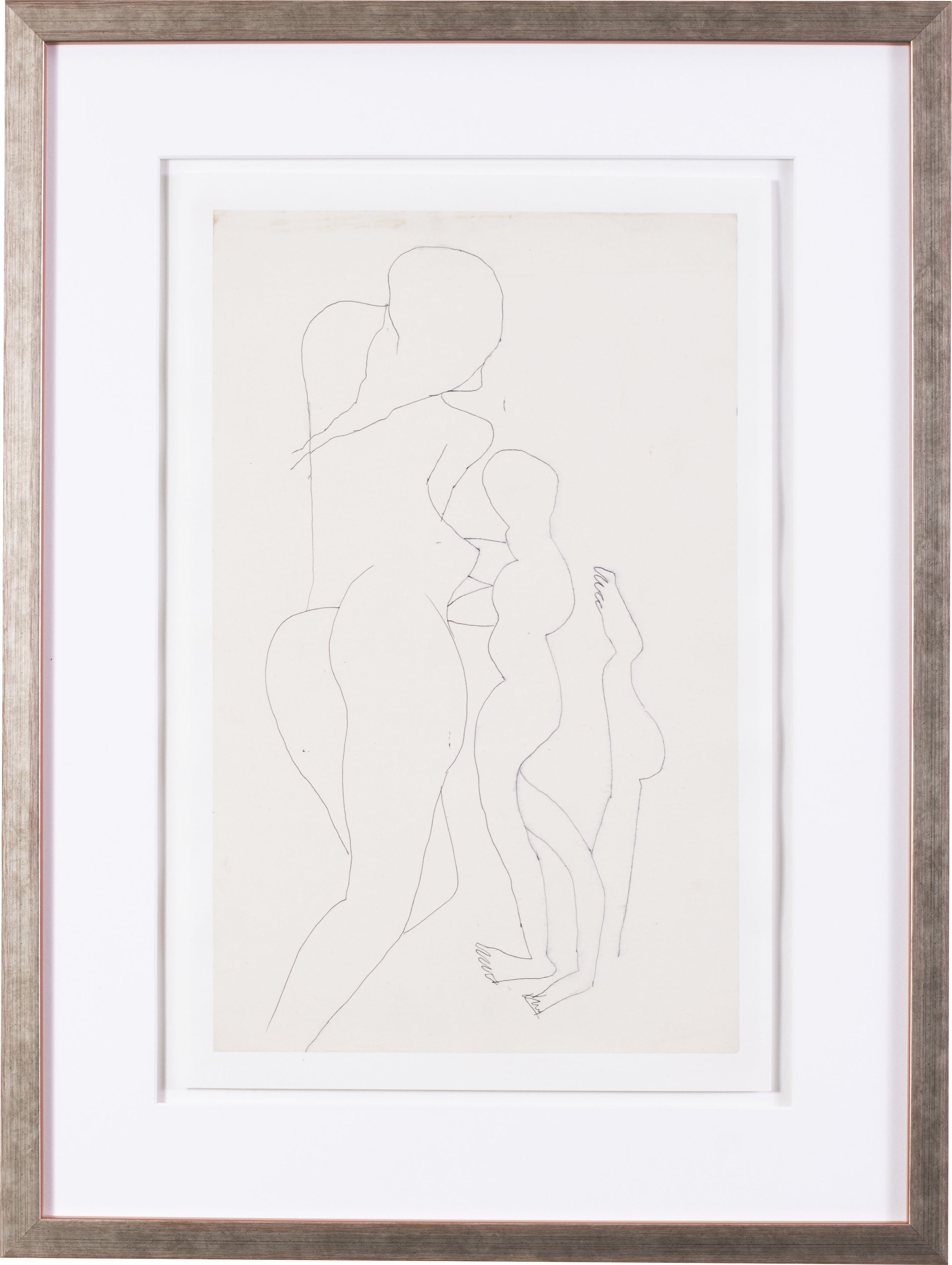 Female nudes   Pen on paper  15.3/4 x 9.7/8 in. (40 x 25 cm.)  Provenance: The artist's wife Maria, Nee Figueiredo, gifted to her nephew   £2,800