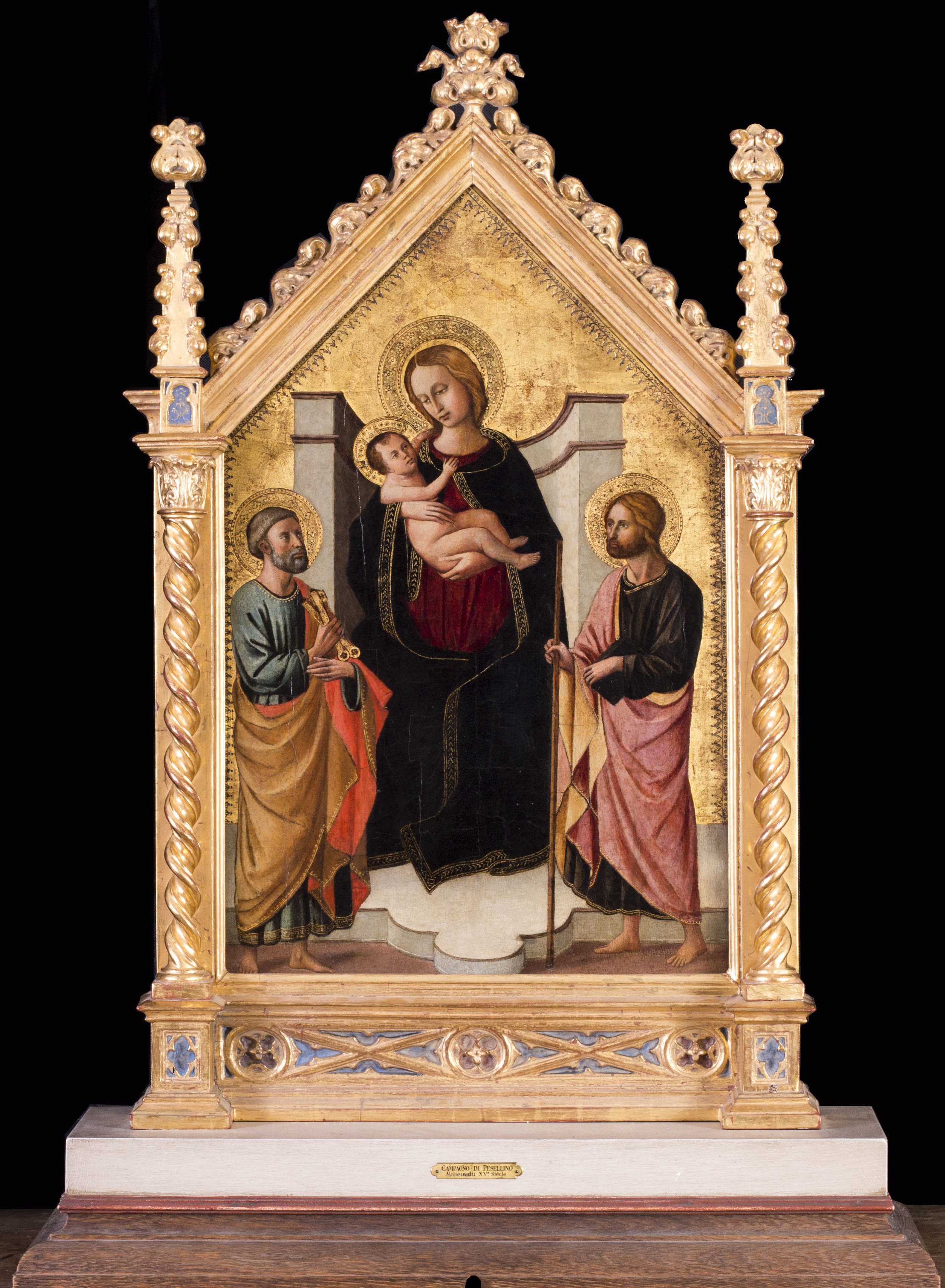 Domenico de Michelino    The Madonna and Child with St. Peter and John the Baptist    Price: £41,000