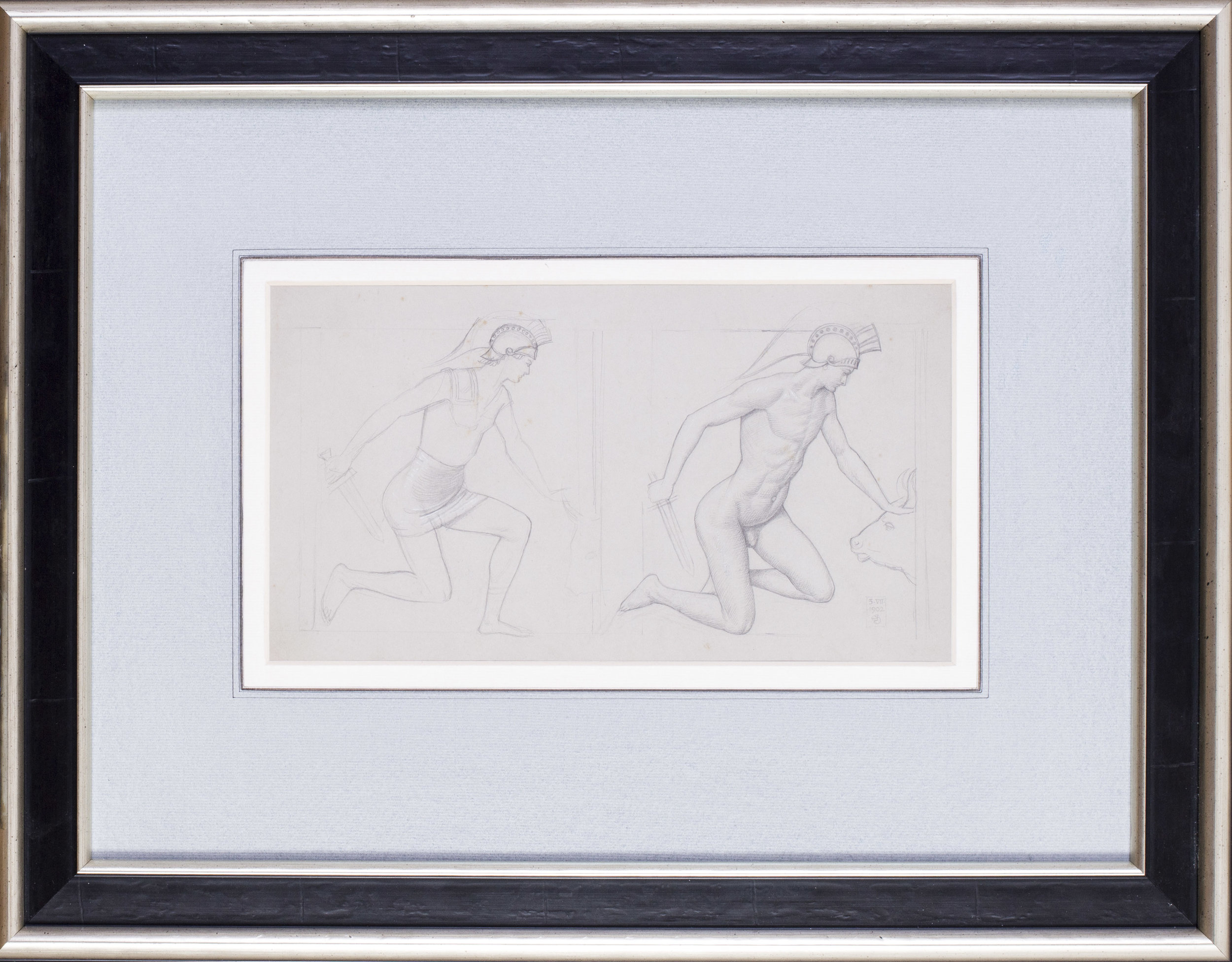 Joseph Edward Southall    Study for 'Theseus and the Minotaur'   Price: £950