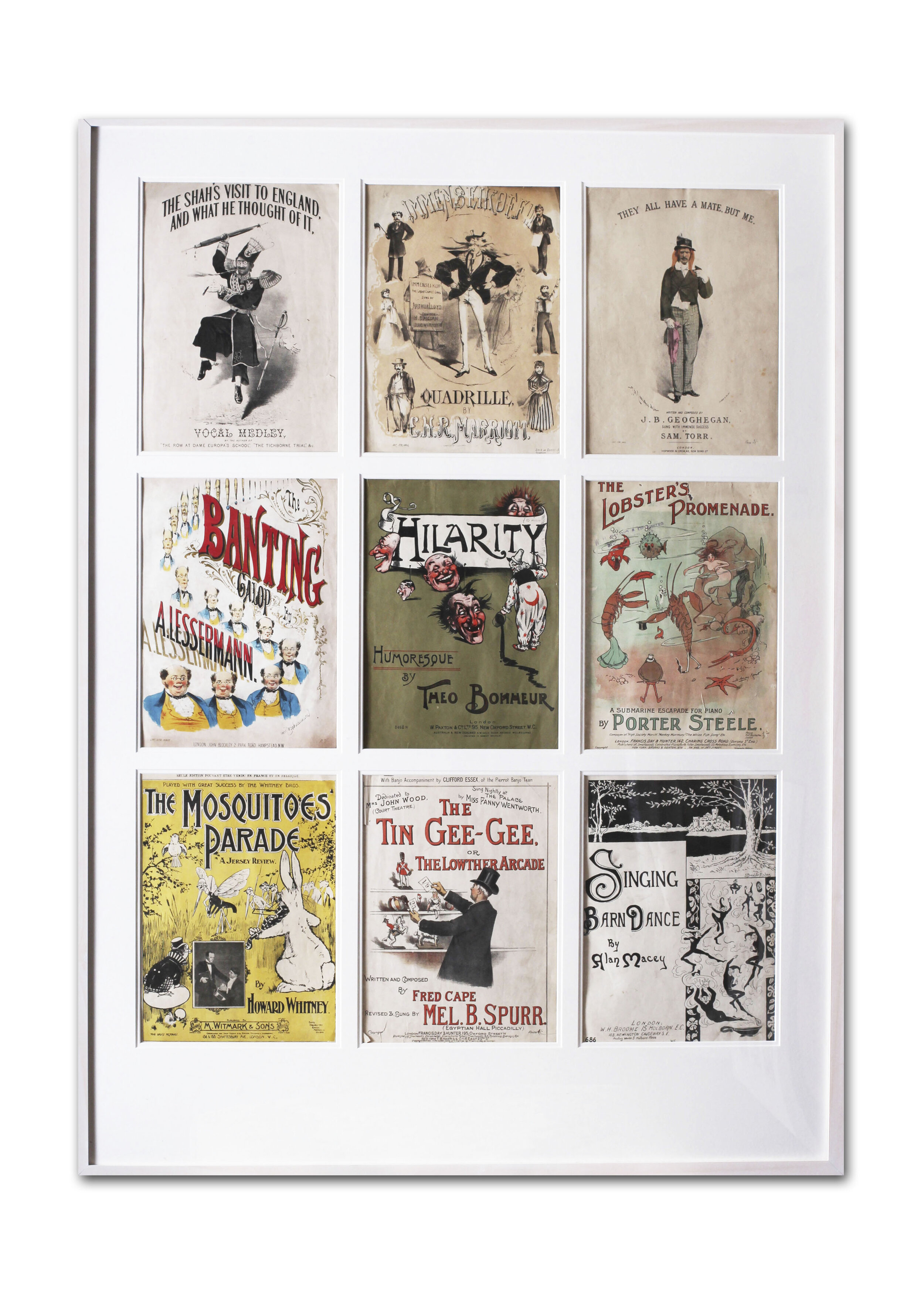 Set of 9 sheet music covers from the early part of the 19th Century, London, by various artists.   Price: £1,300