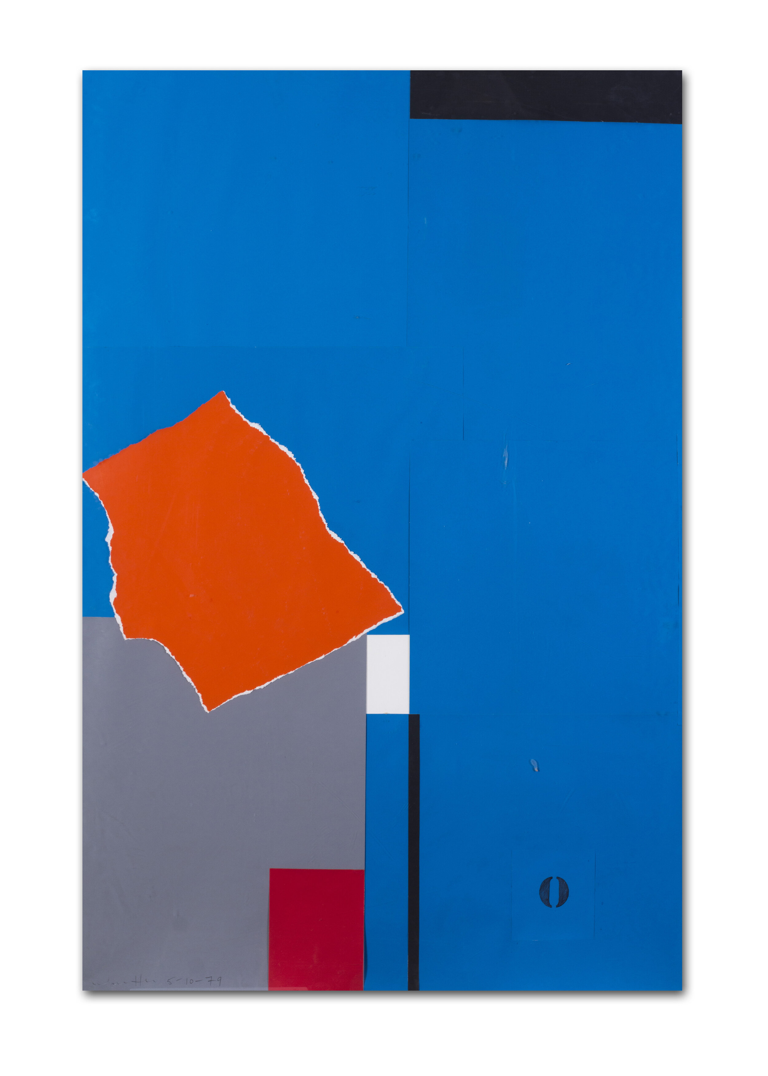 Emerson Woelffer    Orange over blue with O   Price: £4,200