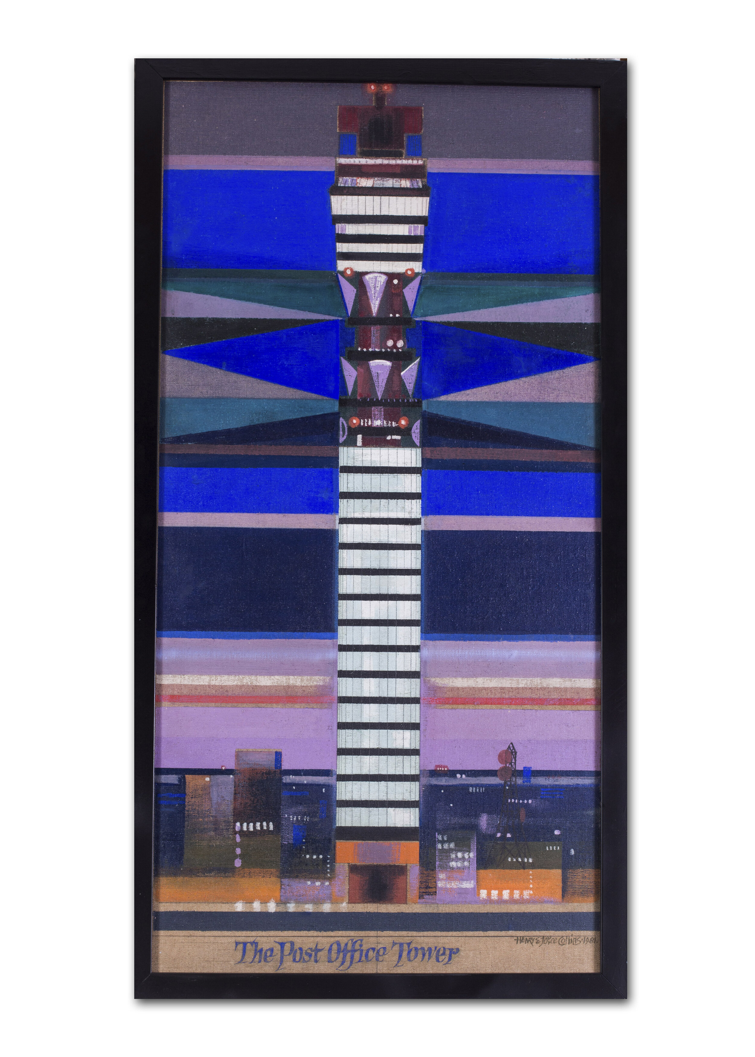 Henry and Joyce Collins    The Post Office Tower, 1981    Price: £4,100