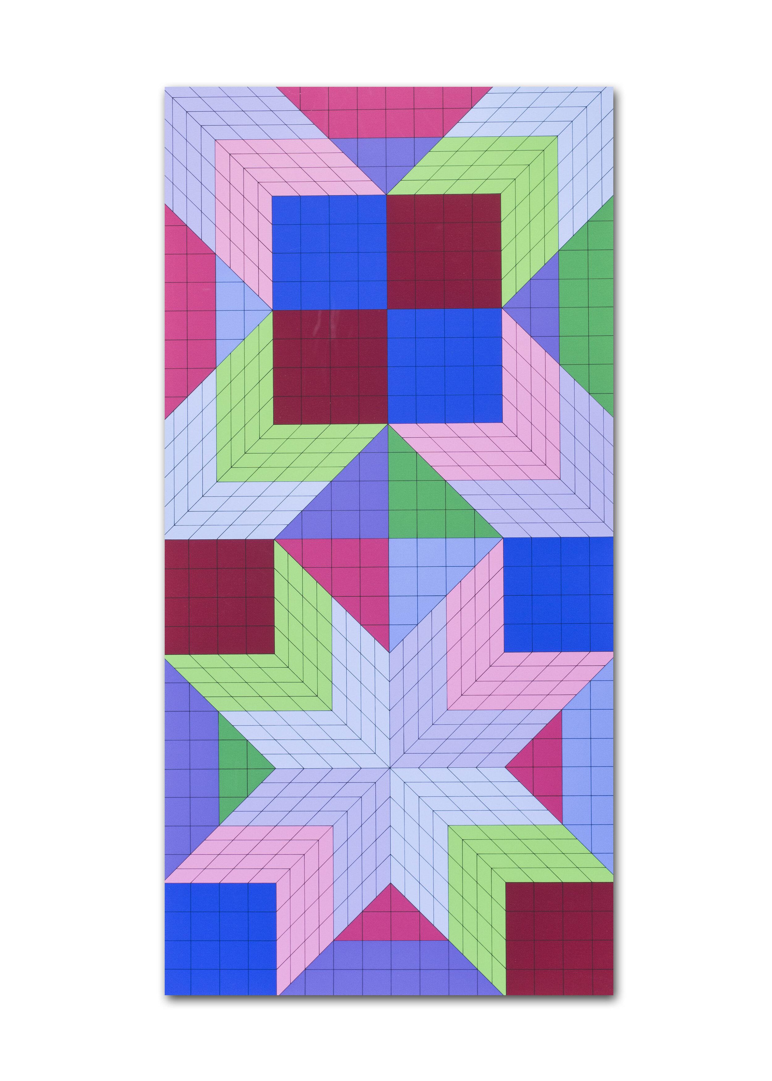Victor Vasarely   Door, 1982    Price: £1,250