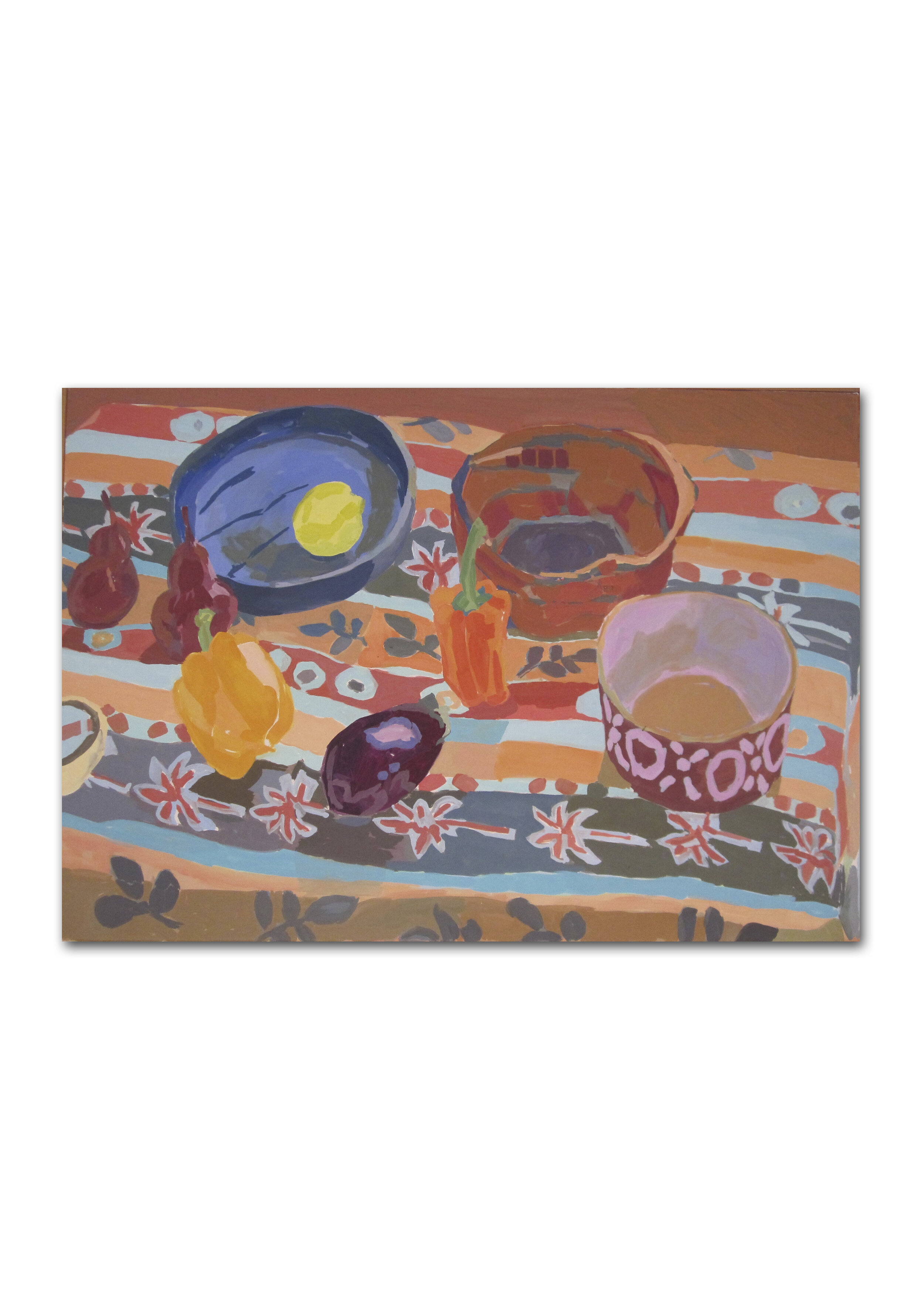 Rosie Montford  Still life with bowls and peppers  Price: £4,100