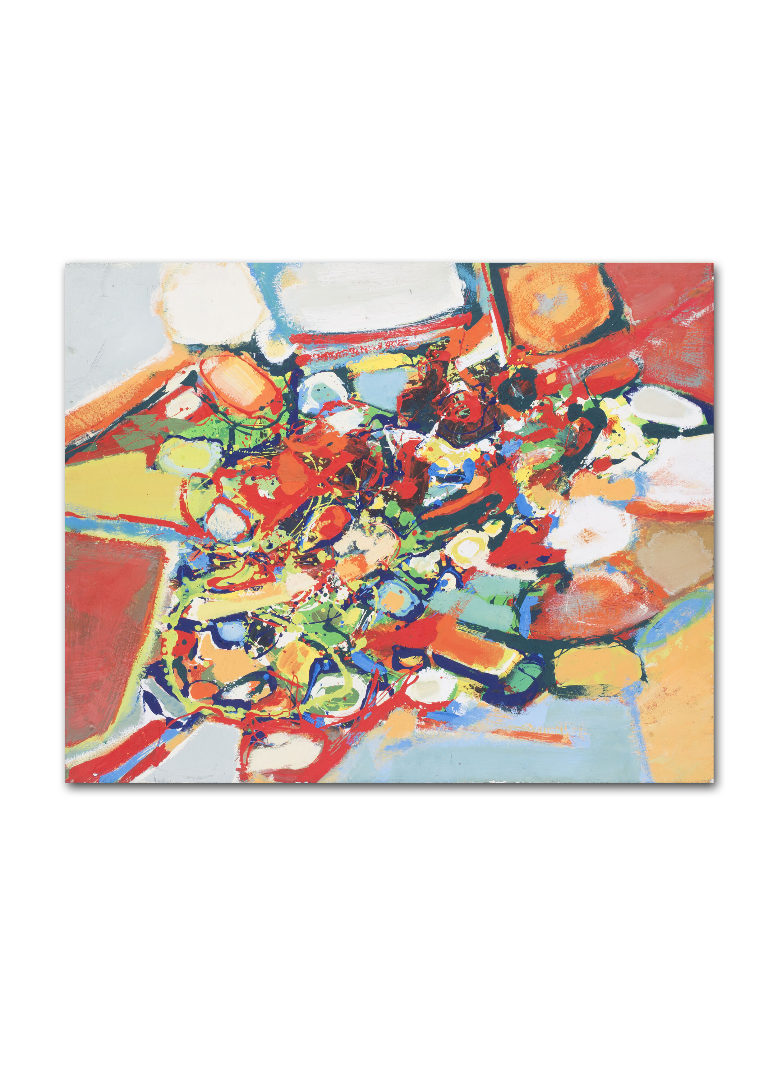 Joel Froment II    Reds, greens, blues and oranges   Price: £2,400