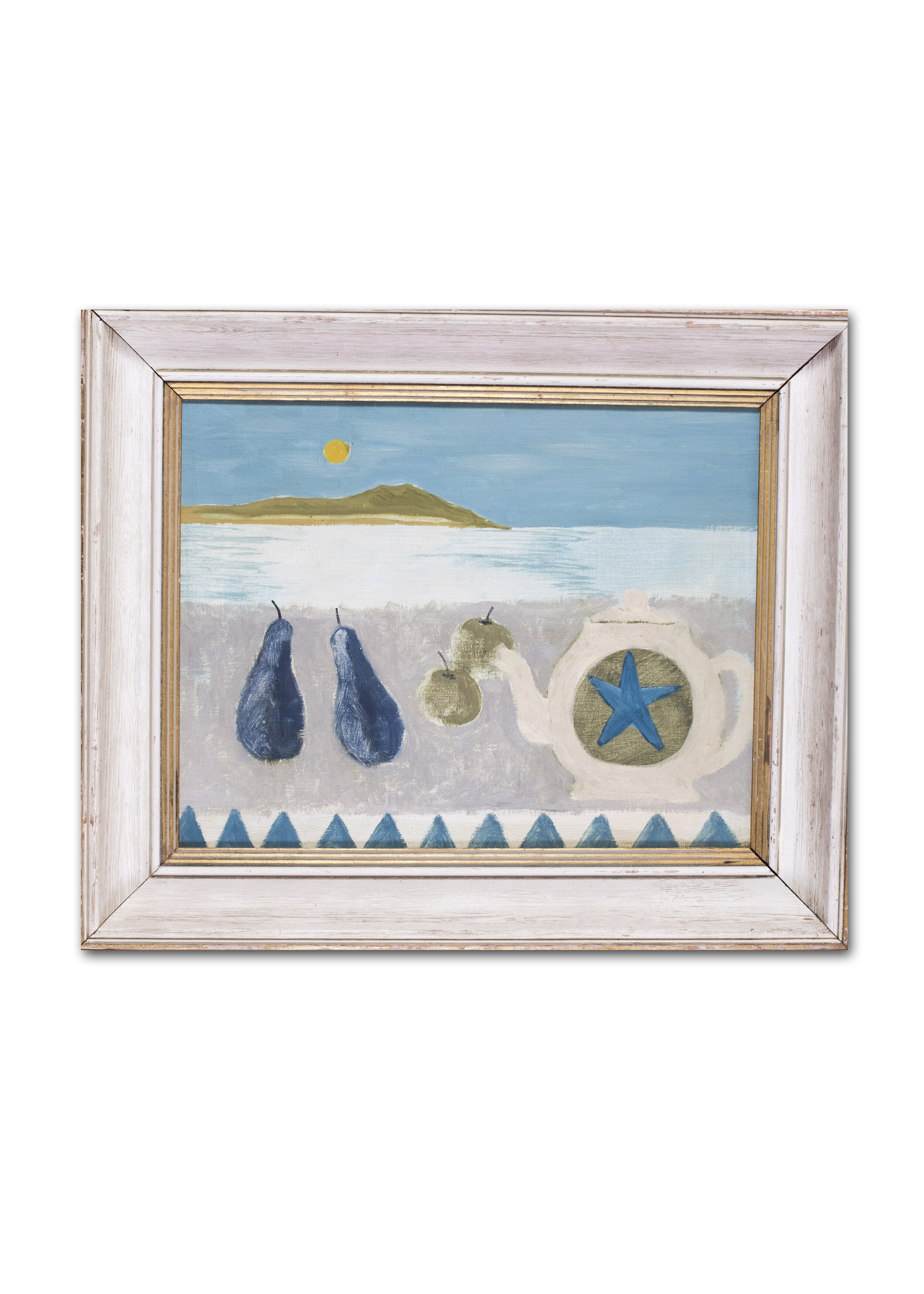 Circle of Mary Fedden    Tea, apples and pears    Price: £850