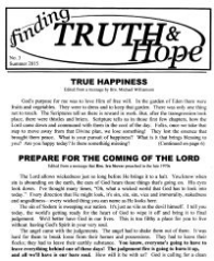Finding Truth and Hope: Issue #3 (Summer 2015)