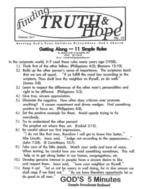 Finding Truth and Hope: Issue #10 (Summer 2017)