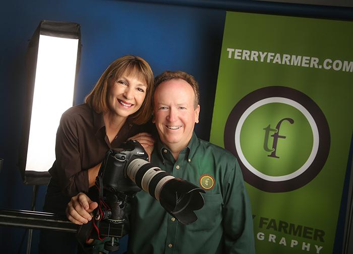 Sandy Farmer - OfficeManager and Terry Farmer - Studio President