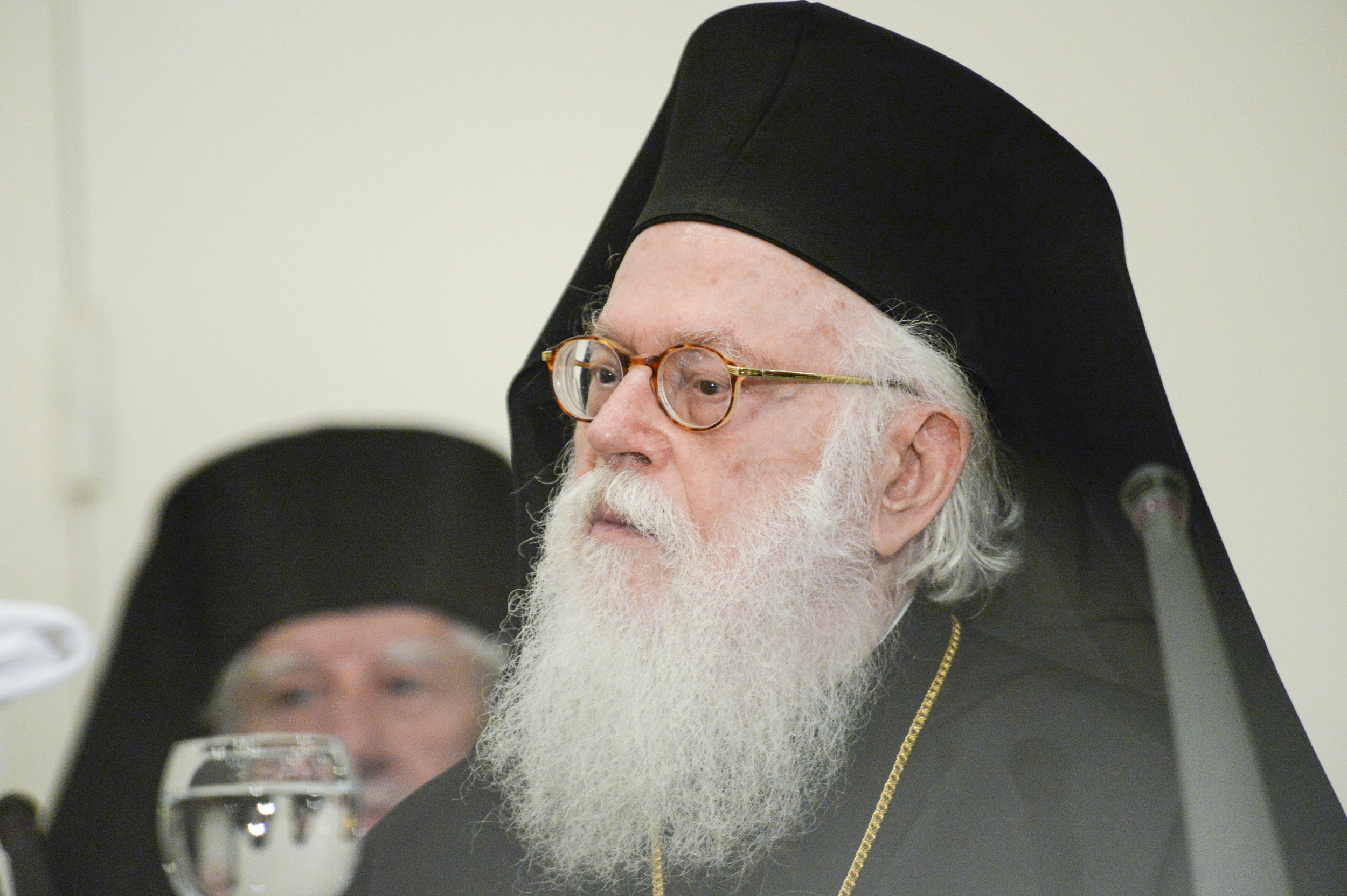 Archbishop Anastasios of Tirana, Durrës and All Albania.   PHOTO: © JOHN MINDALA.