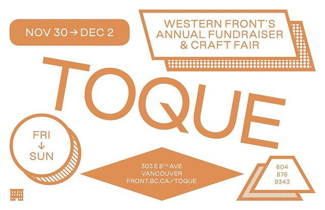 Our first of two Christmas markets starts this Friday evening from Nov.30-Dec. 2. Come say hi @western_front for #toque2018!