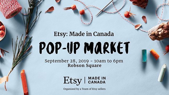 We saved our first market appearance of this year for the best - the Etsy: Made in Canada Pop-Up Market at Robson Square. We will have a limited number of our new products.  Come by tomorrow and pick up your upcycled notebook! 📚