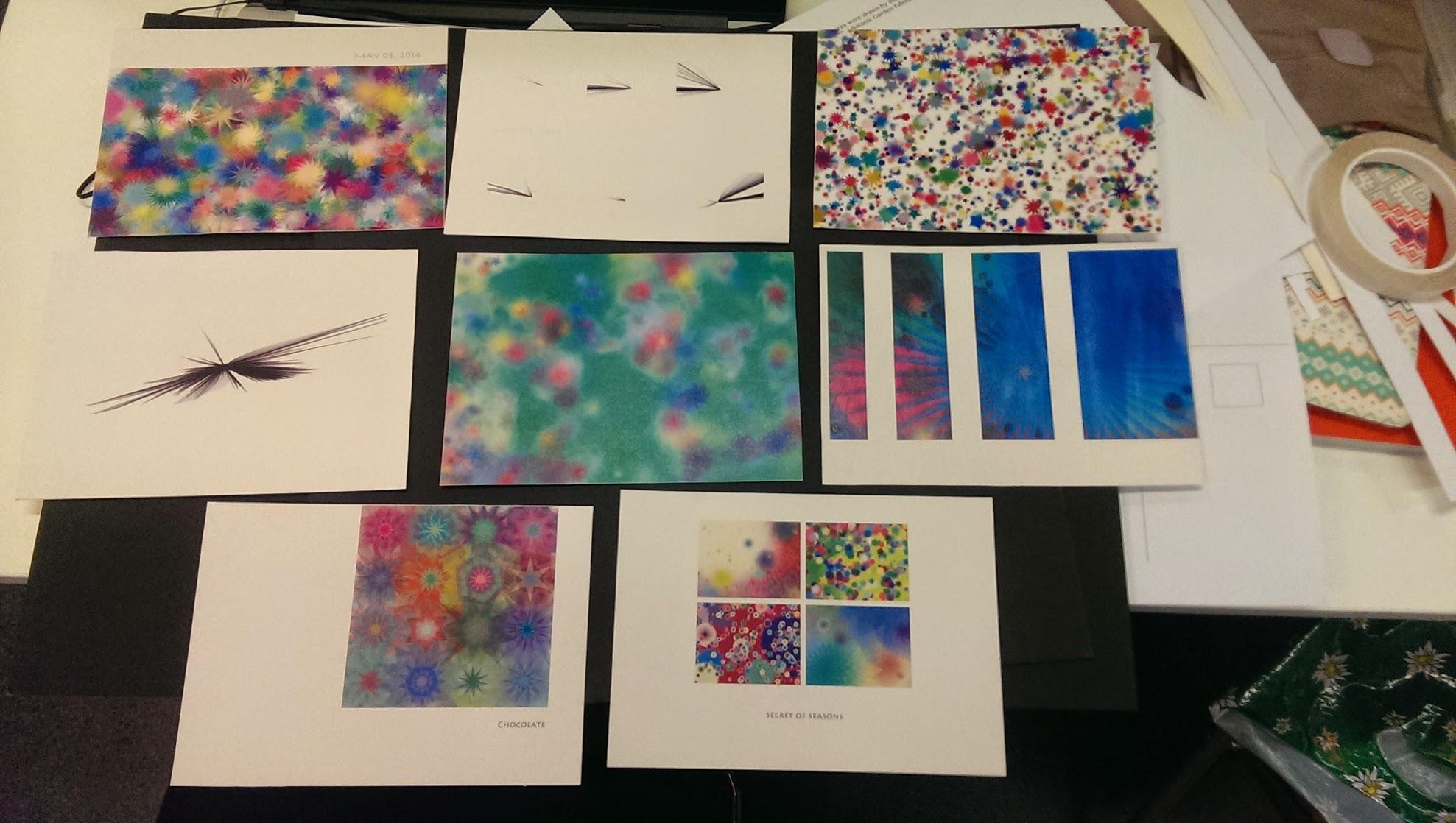 More sets of postcard design