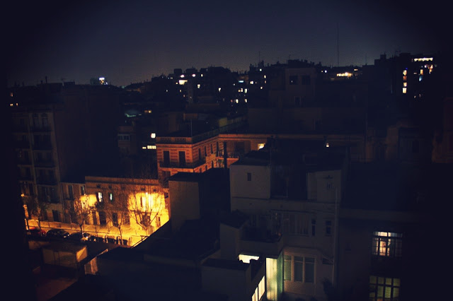 Photo by me: view of Barcelona from Prof. Halliday's flat