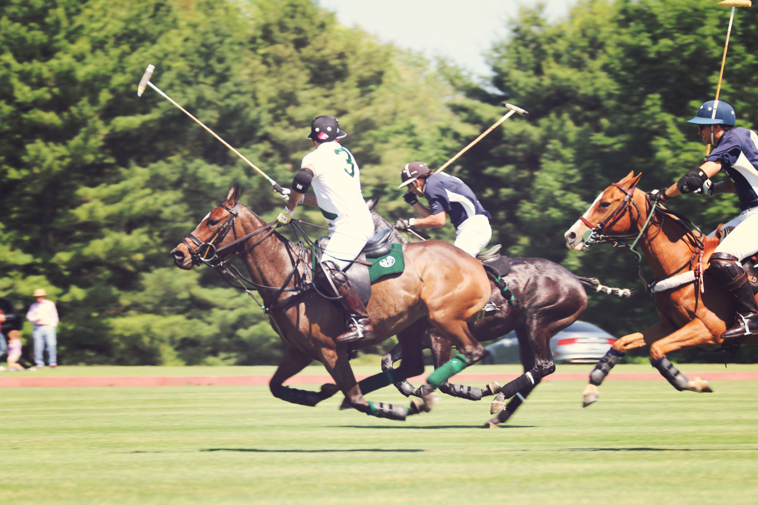 Photo taken last weekend at the Greenwich Polo Club