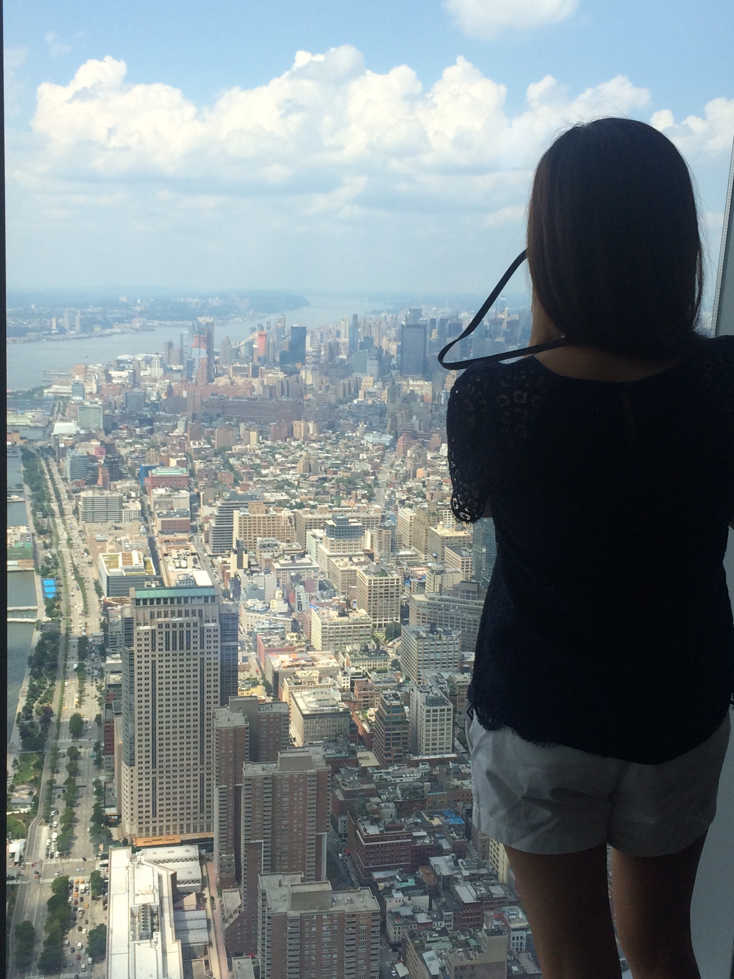 From the top of One World Trade Observatory, July 2015