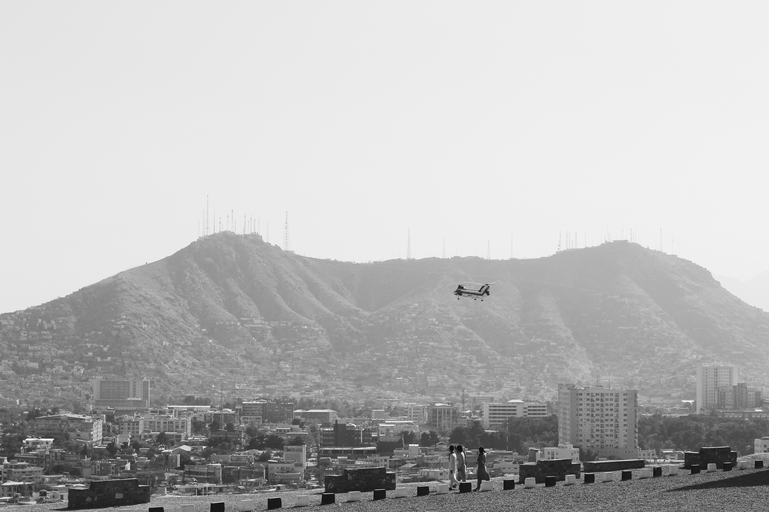 Kabul, Afghanistan. Photo taken from Swimming Pool Hill, September 2015.