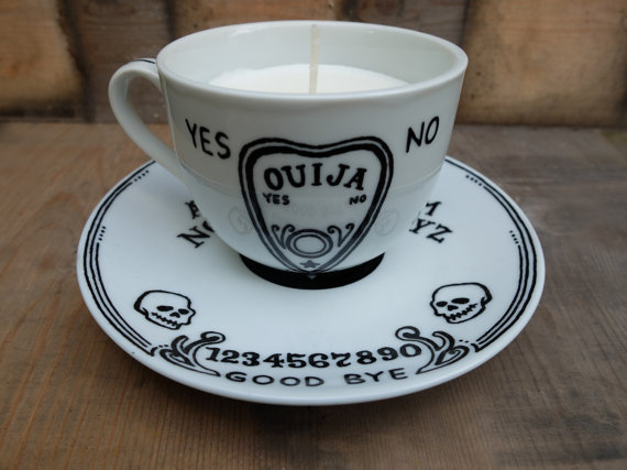 Ouijia Board Tea Cup Candle Etsy