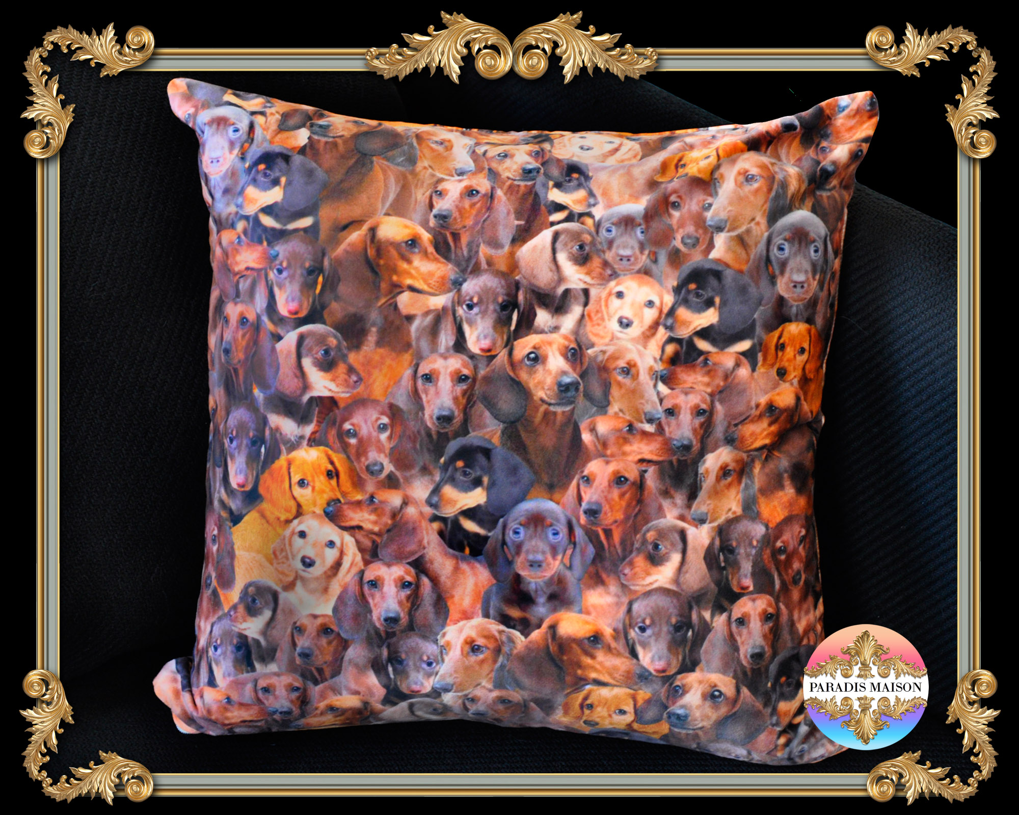 dachshund dog throw pillow los angeles