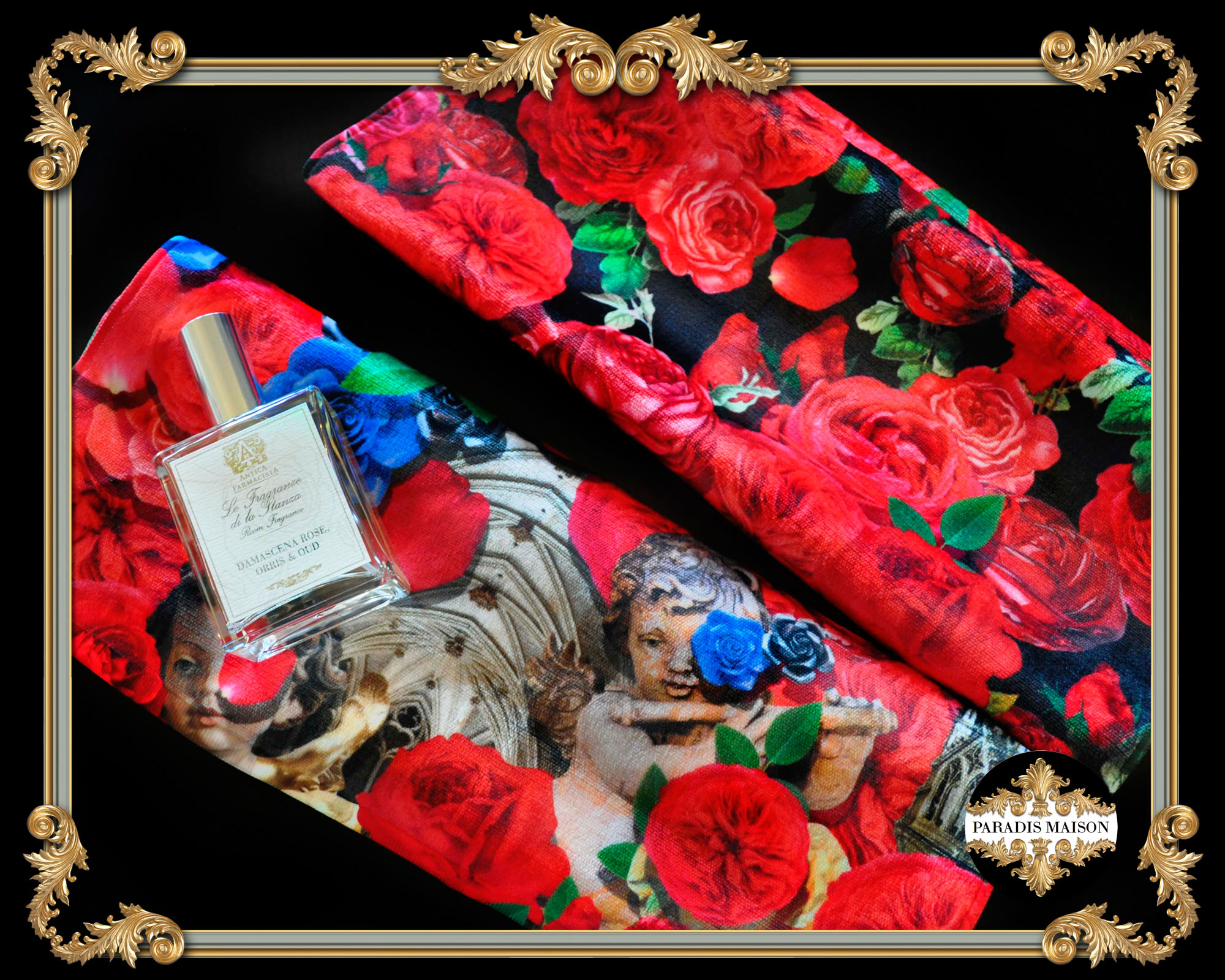 ornate rose hand towels
