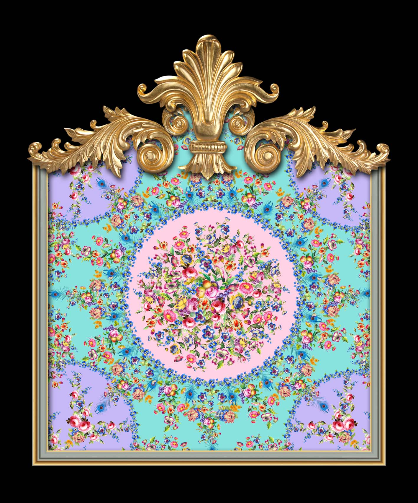 Versailles Floral Sevres in Lilac, Mint & Pink