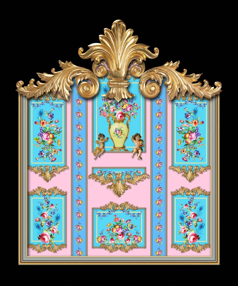 Versailles in Pink & Blue