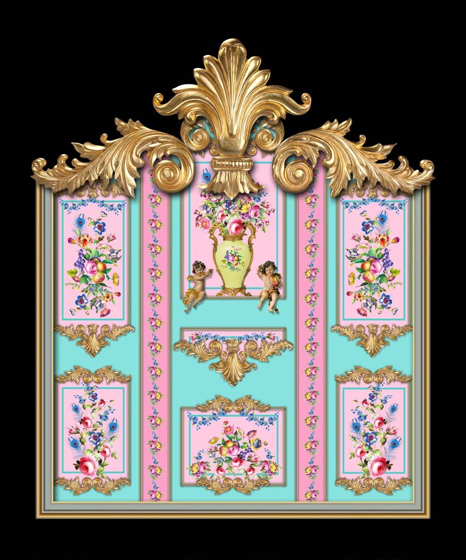 Versailles in Pink & Mint