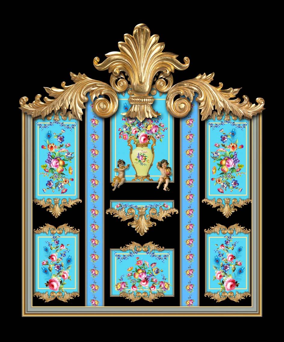 Versailles in Black & Blue