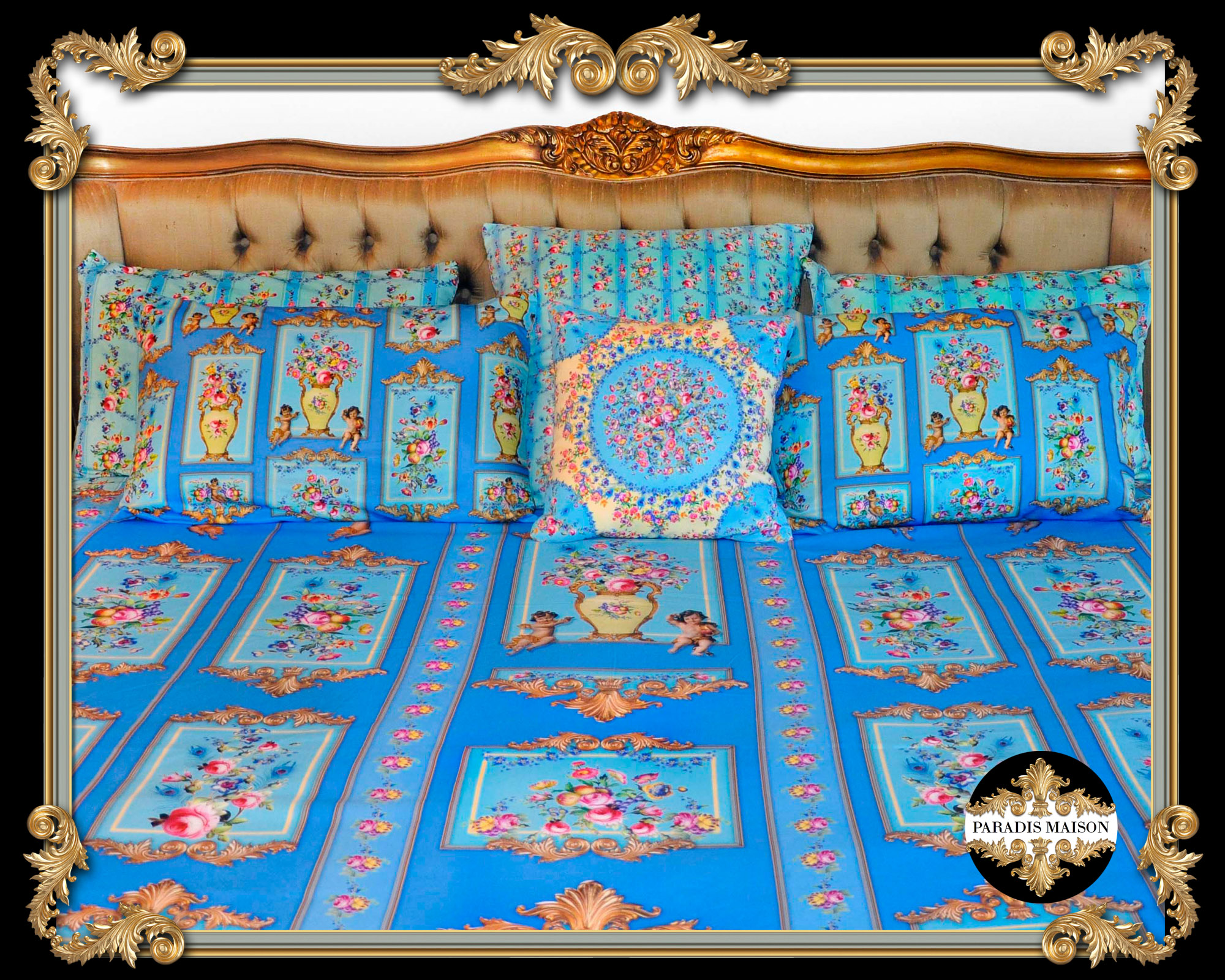 ornate french versailles style comforter