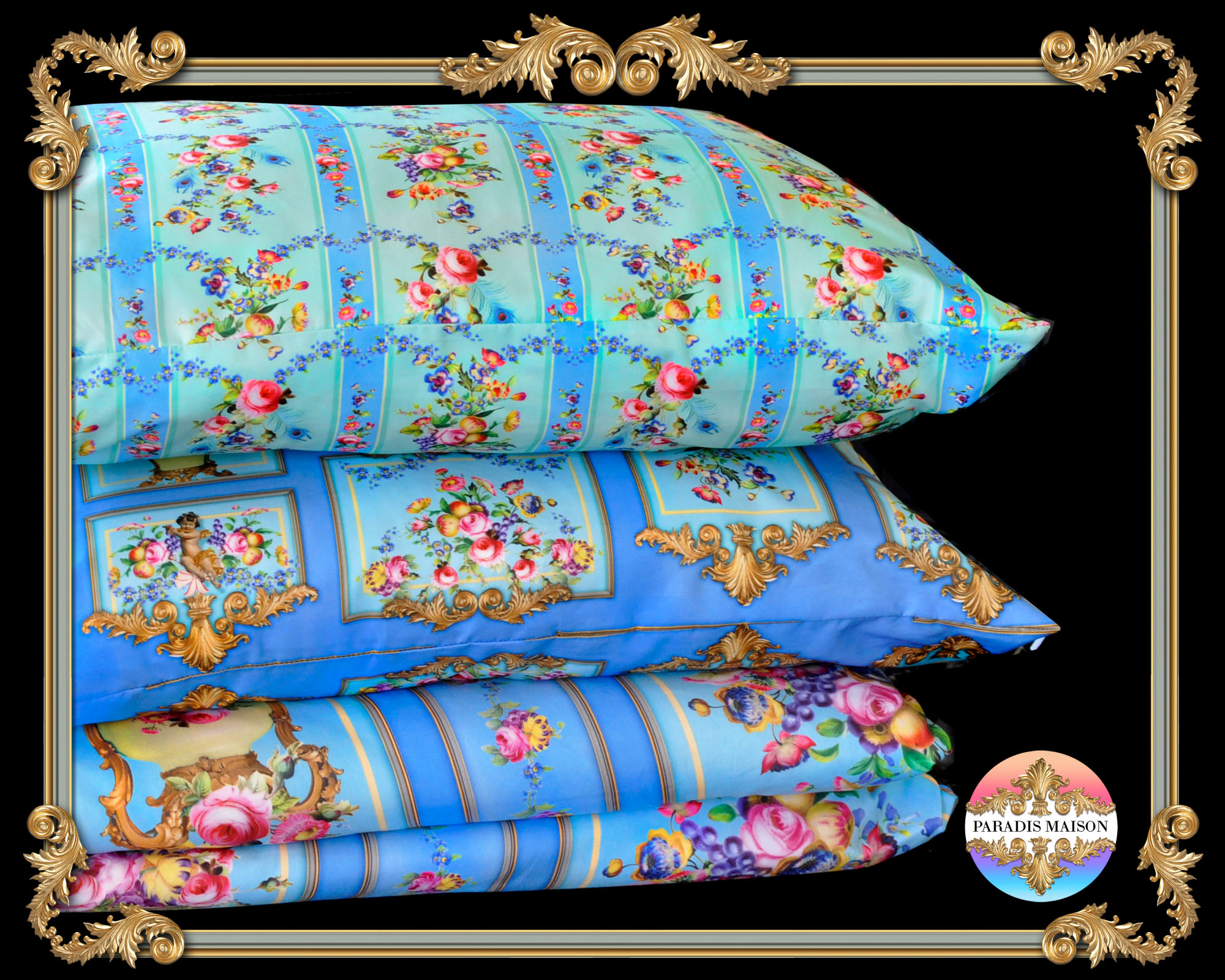 ornate french baroque versailles style comforter