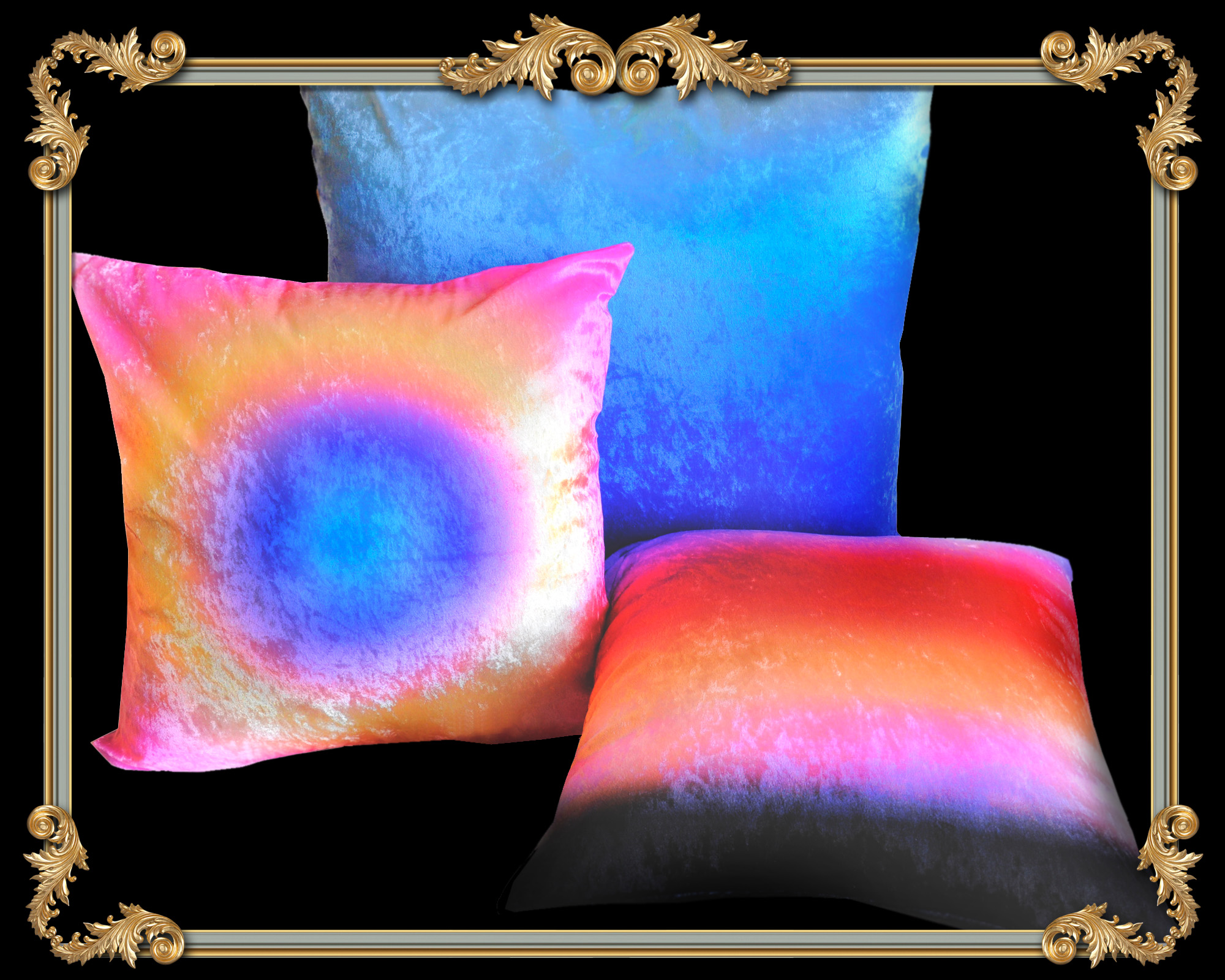 velvet ombre decorative pillows los angeles