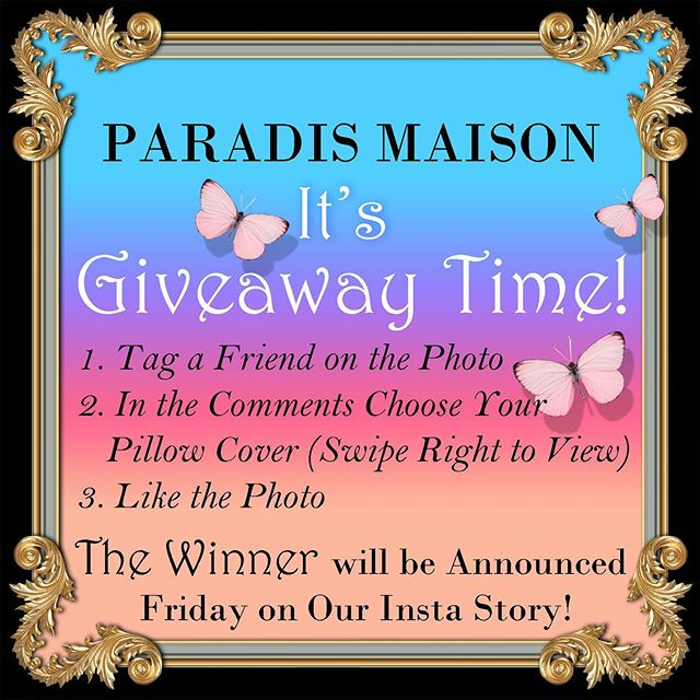 It's Pillowcover Giveaway Time!  1. Tag a Friend on the Photo  2. In the comments Section Choose Your Pillowcover  3. Like the Photo.  Winner to be Announced Friday on our InstaStory! If we get a enough engagement we'll make this a giveaway a regular thing ❤️👏 #giveway #paradismaisongiveaway #decorativepillows #pillowsofinstagram #eclectichome #eclecticdecor #interiormilk #maximalistdecor #maximalisthome #instadecor #eclecticinterior #eclecticinteriors #winnerwinnerchickendinner🏆 #colorfulinterior #colorfulhomes #colorfuldecor #colorfulinteriordesign