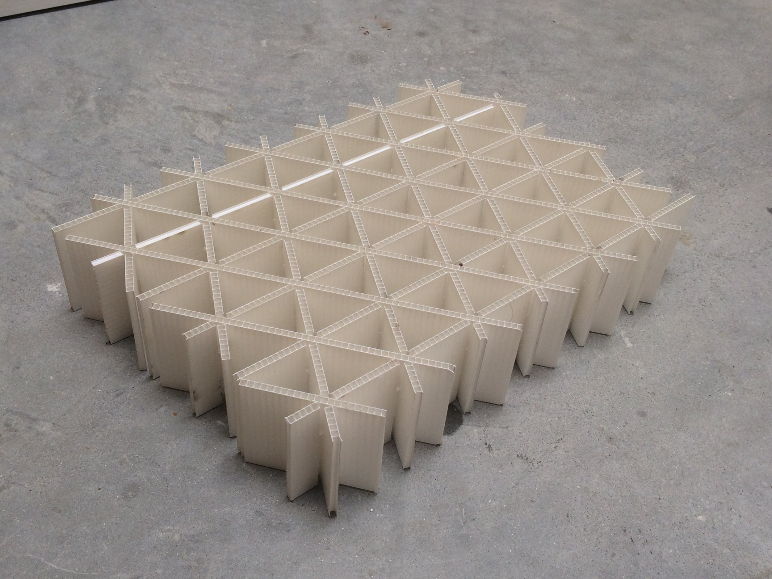 02 Recycled plastic triangle construction  .JPG