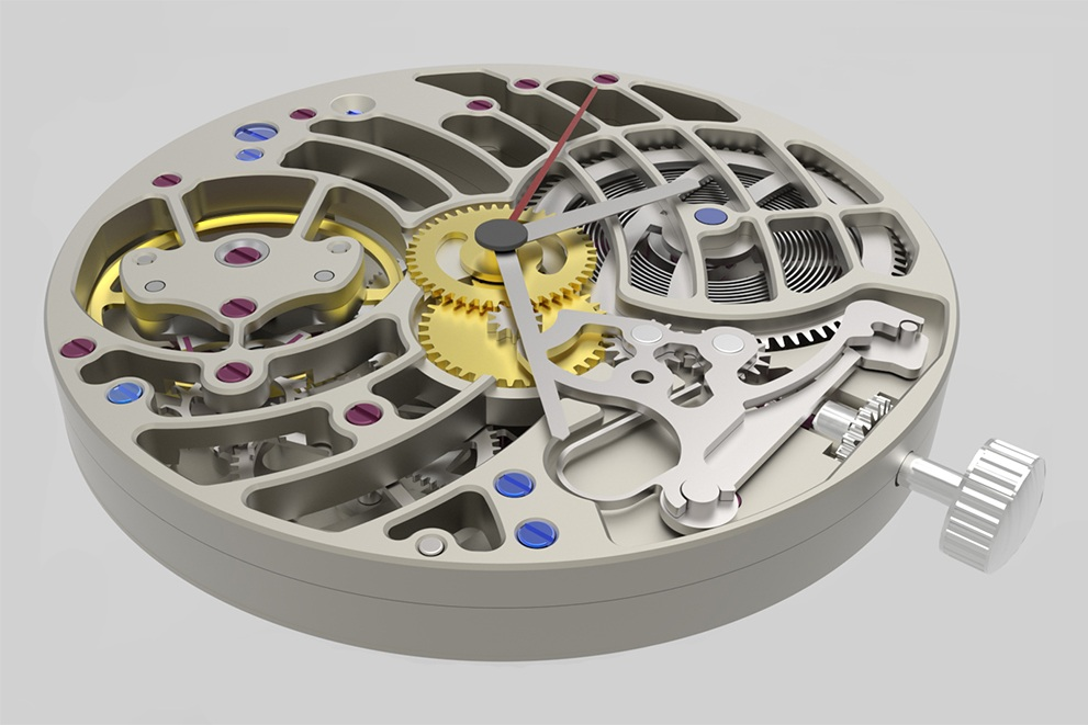 Mechanical Watch // Personal CAD Project. Made in Rhinoceros. -