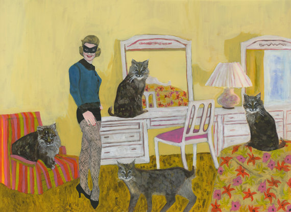 Barbara in the Bedroom with Bobcats. ©Vivienne Strauss