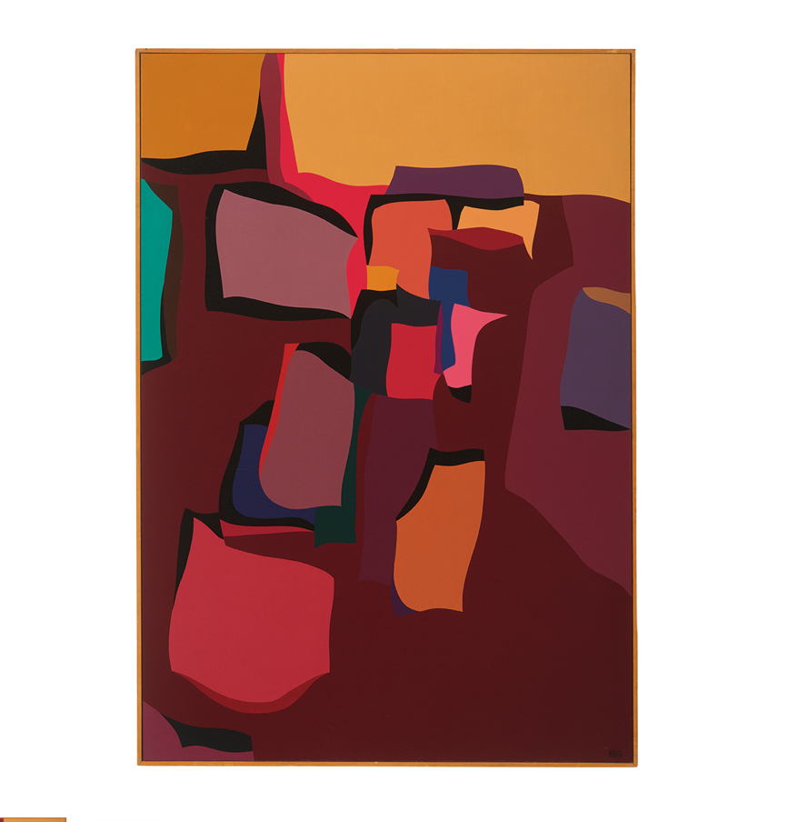 Karl Benjamin's 1961  Landscape Forms . (Lot 333, estimated $40,000-$60,000)