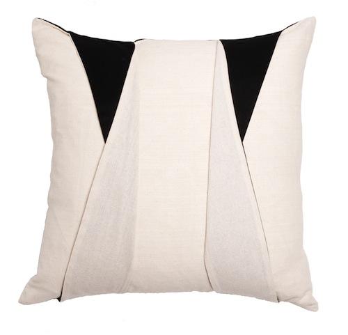 Stone Textile Studio's Tuxedo Pillow; $215