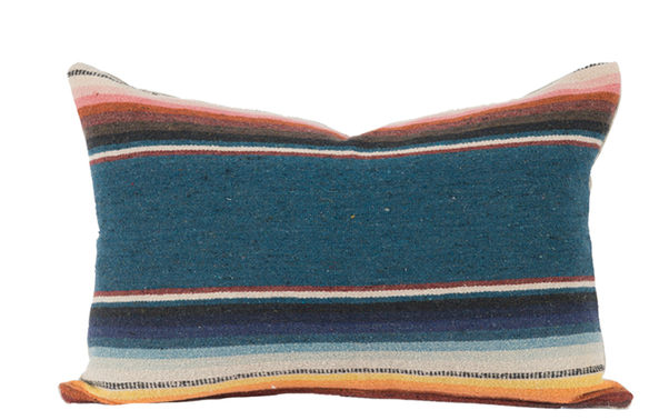Malibu pillow (made of vintage Mexican Serape); $230; House of Cindy