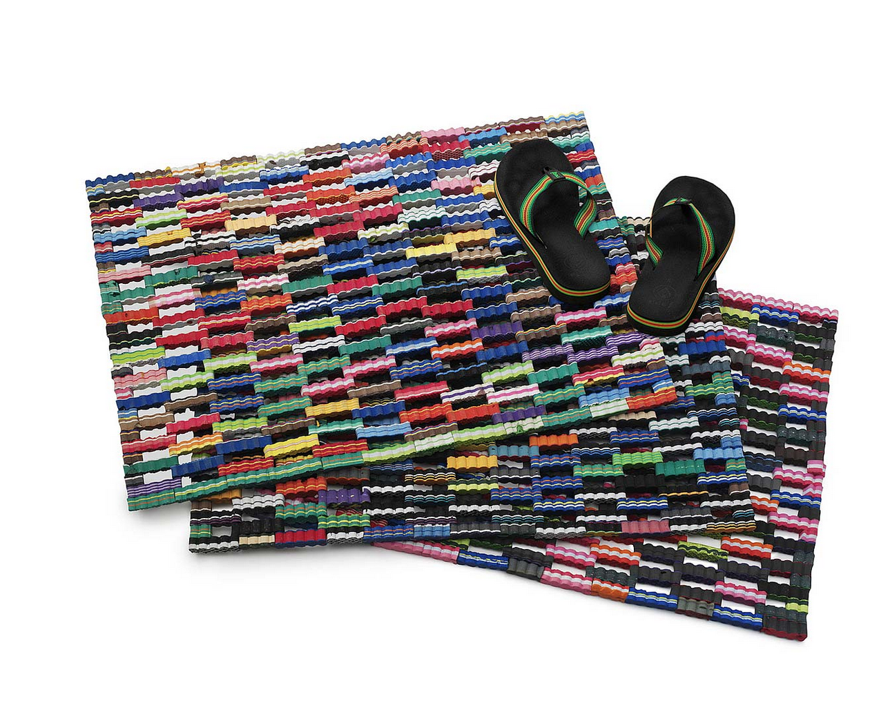 Made in the Philippines, using scrap flip flop foam procured from sandal factories, making these dang pretty and environmentally kind, as well. Get 'em   here .