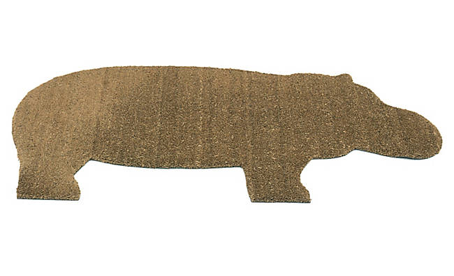 The Hippo mat, designed by Ed Annink and produced by the Amsterdam-based company Droog, is made of PVC and coir. Hungry, hungry hippo, anyone? Get 'em   here