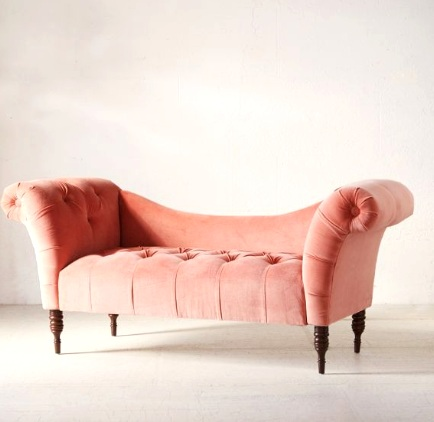 Like here, on this velvet fainting sofa from  Urban Outfitters …