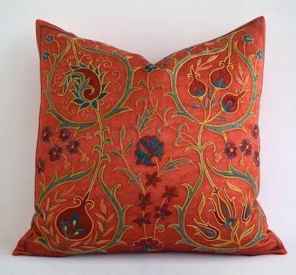 AND…a one-of-a-kind  Silk Suzani  pillow FTW!