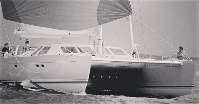 Part 1 of a small series of iconic vessels which paved the way for the beautiful designs showcased in last week's @bootduesseldorf. This is one of the very first @lagooncatamarans produced back in the 90s. Swipe left for a gorgeous code zero! 🎈#saltyleisure #lagooncatamarans