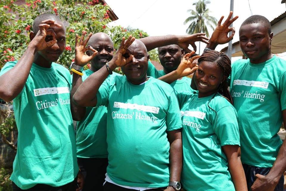 Volunteers at the Citizen hearing, Bo District, Sierra Leone.jpg