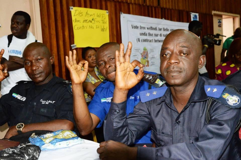 Police in Bo District at the Hearing SL.jpg